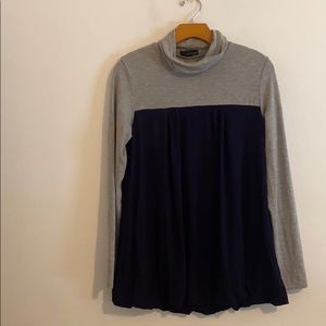 FOREVER 21 GREY & BLUE SWEATER SIZE 1
